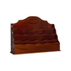 Antique Desk Tidy, English, Mahogany, Letter, Stationery Rack, Edwardian