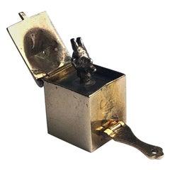 Antique Devil Jack in the Box 9 Carat Gold Charm