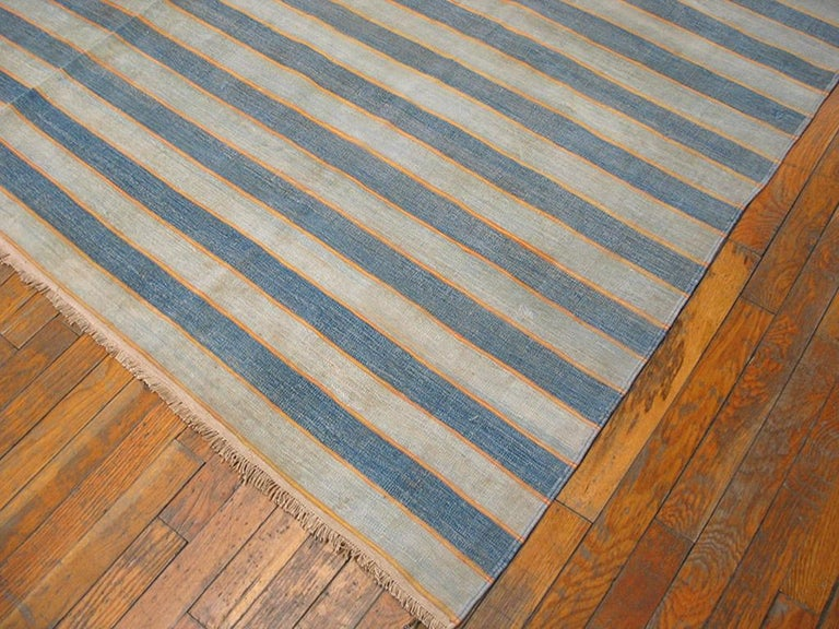 Hand-Woven Antique Dhurrie Indian Rug For Sale