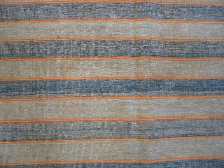 Mid-20th Century Antique Dhurrie Indian Rug For Sale