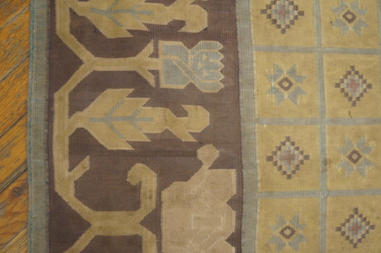 Early 20th Century Antique Dhurrie Indian Rug For Sale