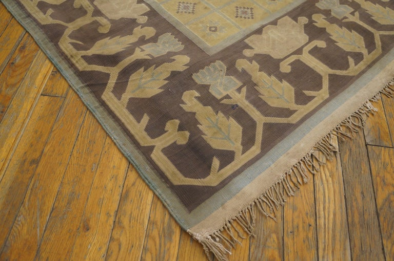 Antique Dhurrie Indian Rug For Sale 1