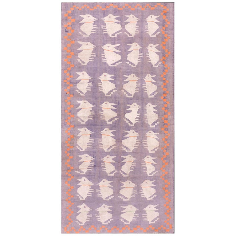 Antique Dhurrie Indian Rug For Sale