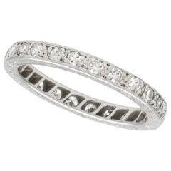 Antique Diamond and Palladium Full Eternity Ring