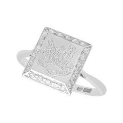 Antique Diamond and Platinum Cocktail Ring, circa 1920