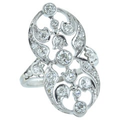 Antique Diamond and Platinum Edwardian Ring, circa 1905