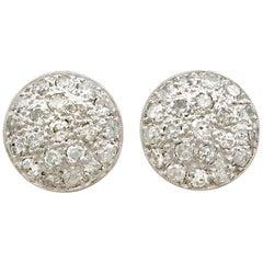 Antique Diamond and Platinum Stud Earrings Circa 1930