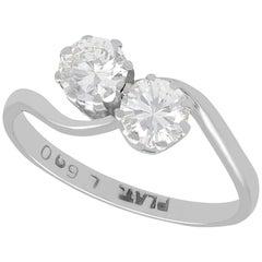 Antique Diamond and Platinum Twist Ring, circa 1920