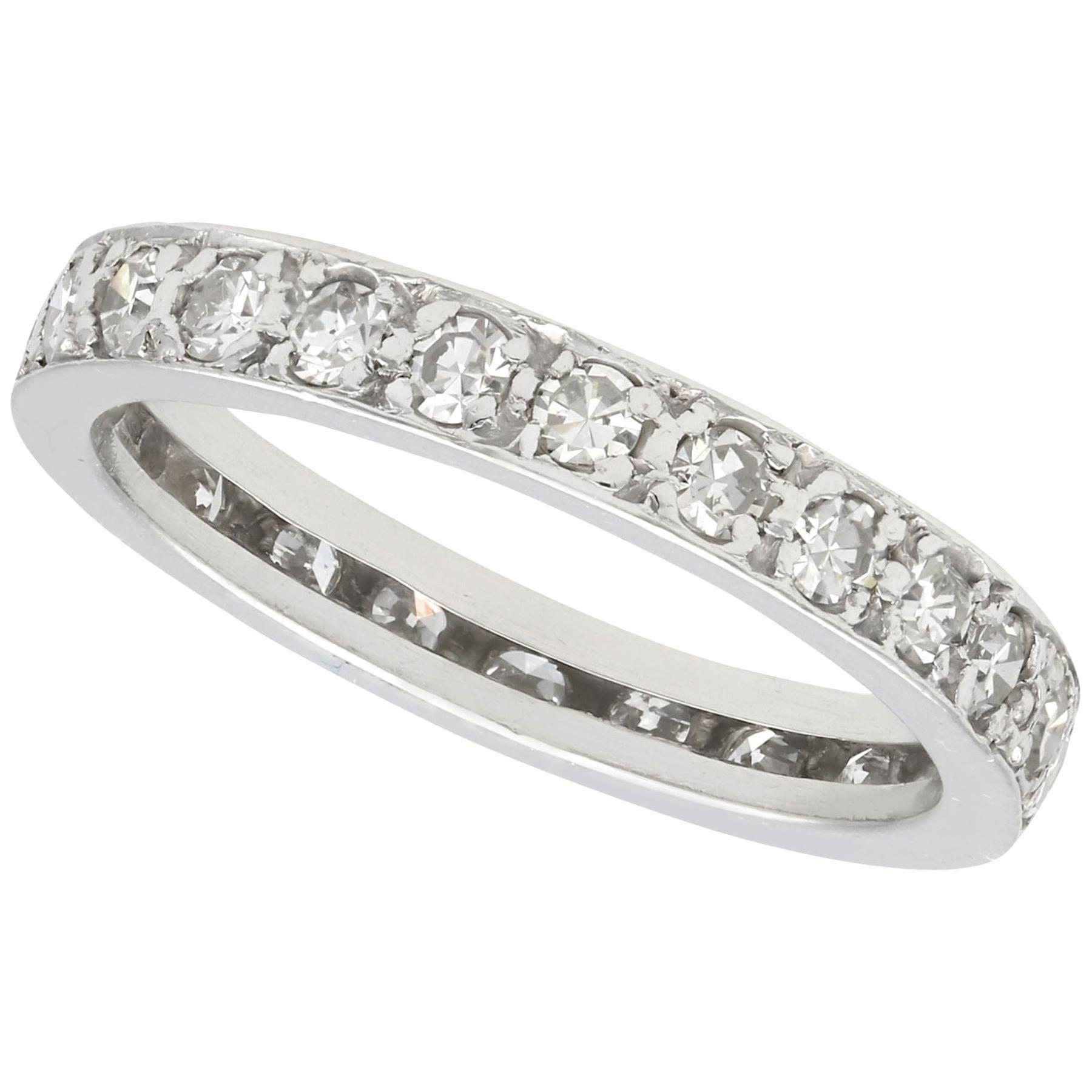 Antique Diamond and White Gold Full Eternity Ring, circa 1930