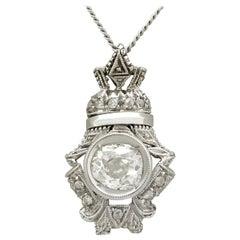 Antique Diamond and White Gold Pendant Circa 1900