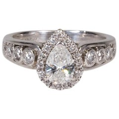 Antique Diamond and White Gold Ring