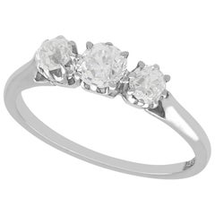 Antique Diamond and White Gold Trilogy Ring