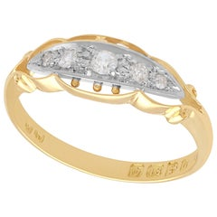 Antique Diamond and Yellow Gold Cocktail Ring