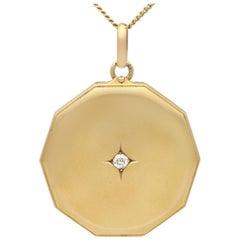 Antique Diamond and Yellow Gold Locket Pendant, circa 1920