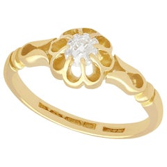 Antique Diamond and Yellow Gold Solitaire Ring, 1912