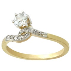 Antique Diamond and Yellow Gold Twist Ring, circa 1910
