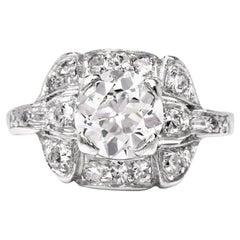 Antique Diamond Art Deco Platinum Ring