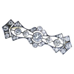 Antique Diamond Brooch, circa 1870