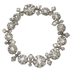 Antique Diamond Cluster Bracelet