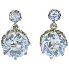 Antique Diamond Earrings, circa 1895