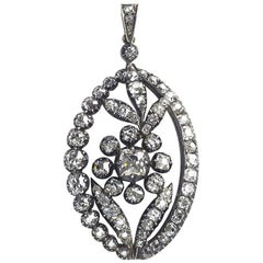 Antique Diamond Flower Pendant, circa 1880