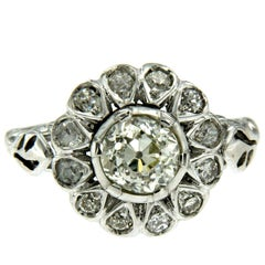 Antique Diamond Gold Cluster Ring