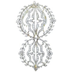 Antique Diamond Hair Barrette, circa 1900