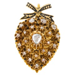 Antique Diamond Heart Locket