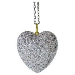 Antique Diamond Heart Pendant, circa 1900