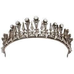 Antique Diamond Necklace/Tiara, French, circa 1890