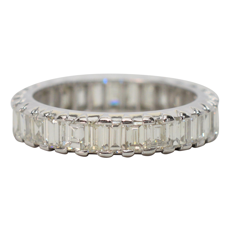 Antique Diamond Platinum Eternity Ring