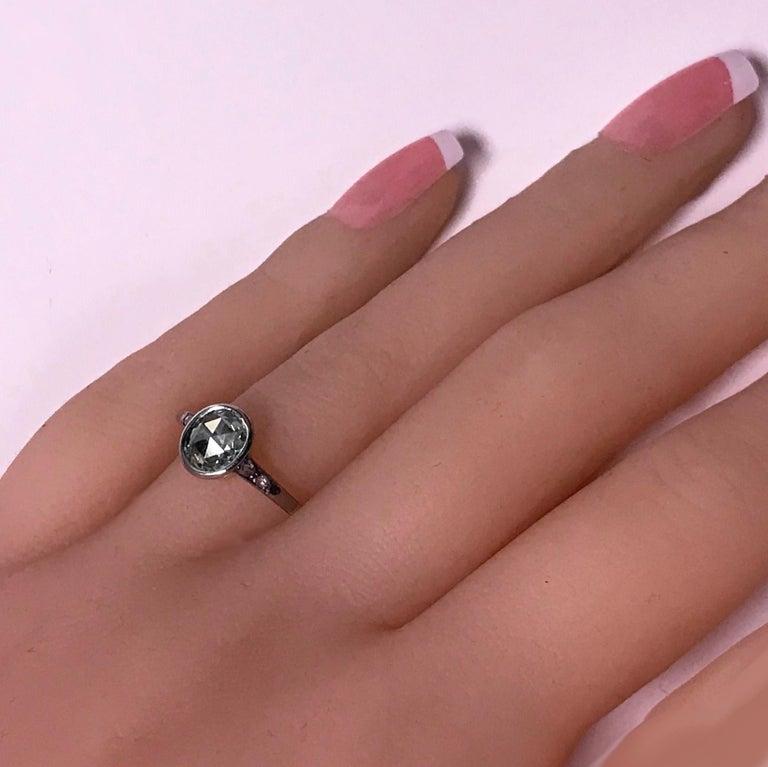 Women's or Men's Antique Diamond Ring, circa 1920 For Sale