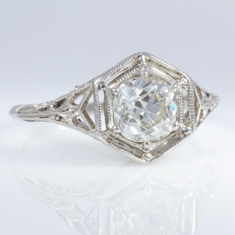 Edwardian Antique Diamond Ring For Sale