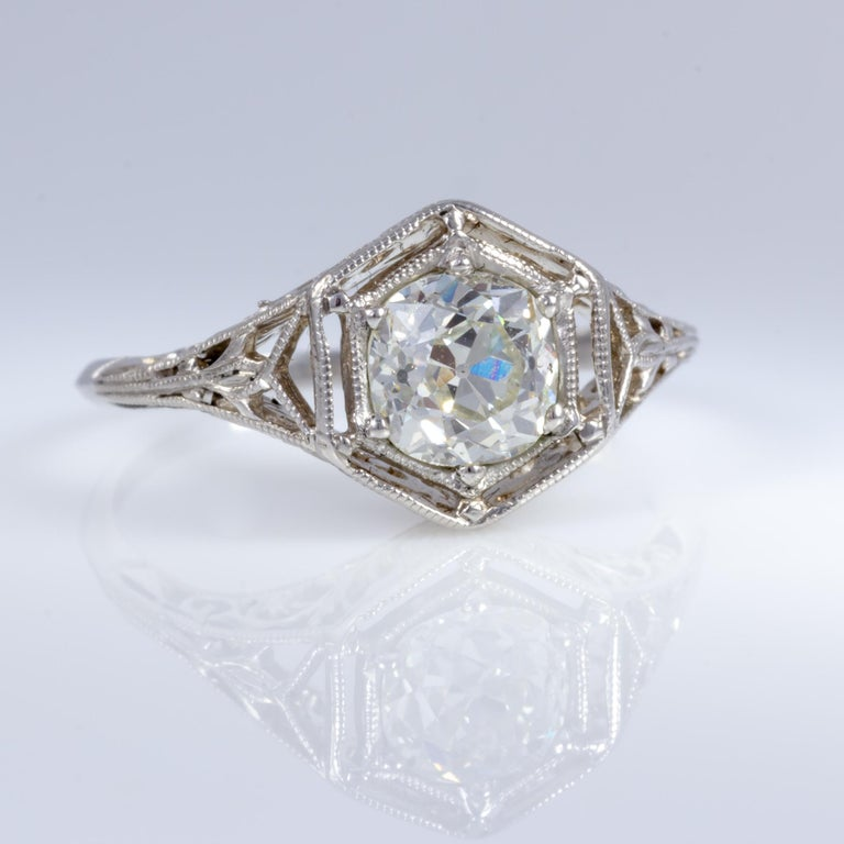 Old Mine Cut Antique Diamond Ring For Sale