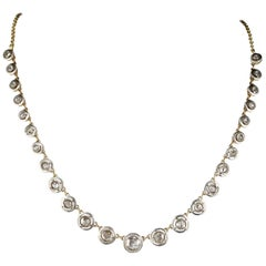 Antique Diamond Riviere Necklace of Target Design