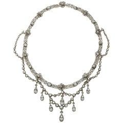 Antique Diamond, Silver and Gold Necklace, circa 1905
