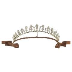 Antique Diamond Tiara Necklace