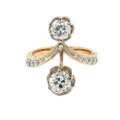 Antique Diamond Vous et Moi Ring