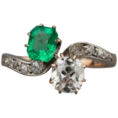 Antique Diamonds and Emerald Ring by Robert KOCH