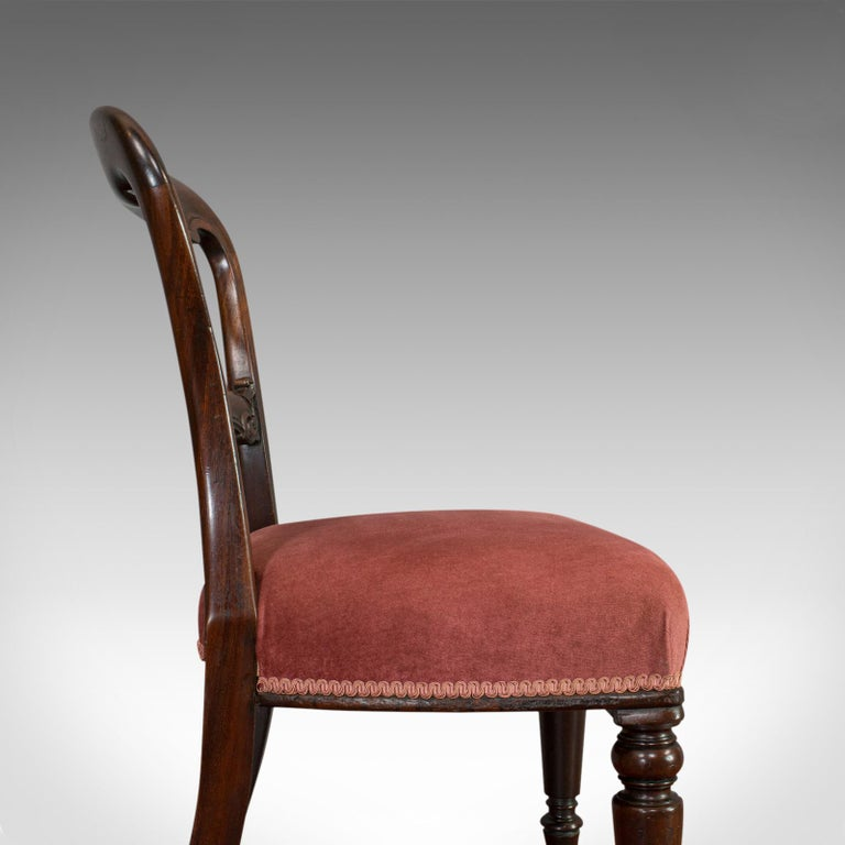 Antique Dining Chair Suite, English, Walnut, Set of 5 Chairs, Gillow, Victorian For Sale 6