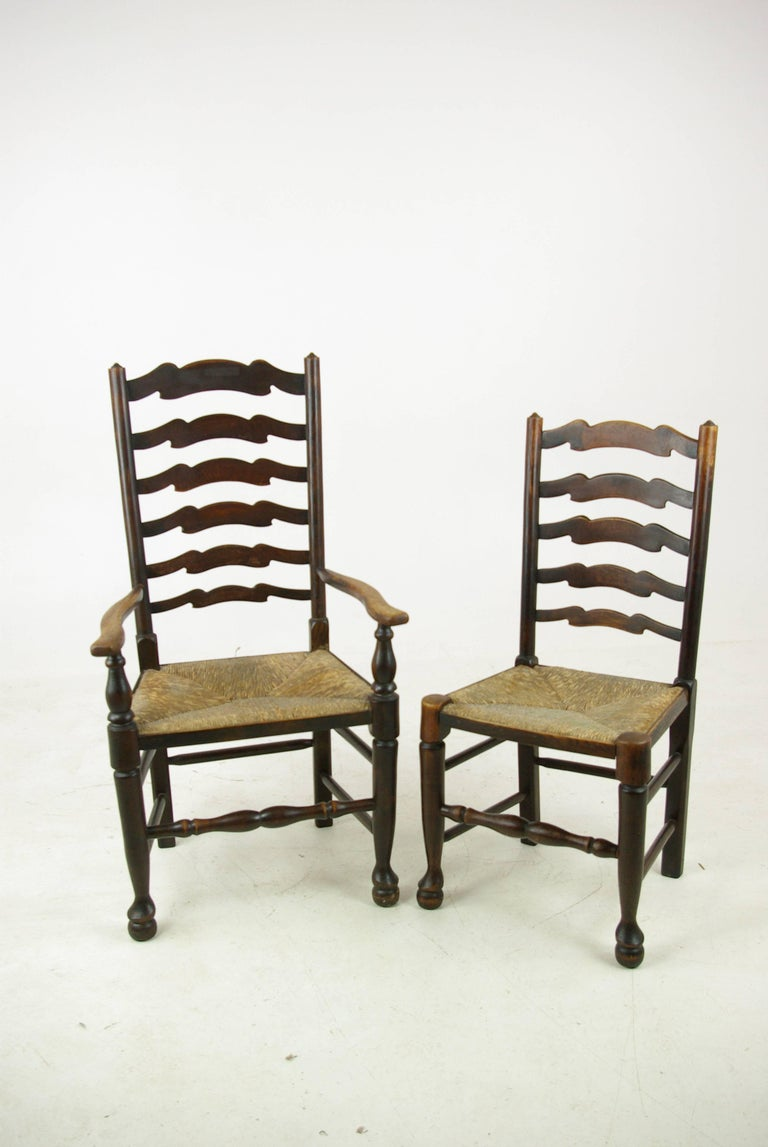 Antique Dining Chairs Rush Chairs Ladder Back Chairs