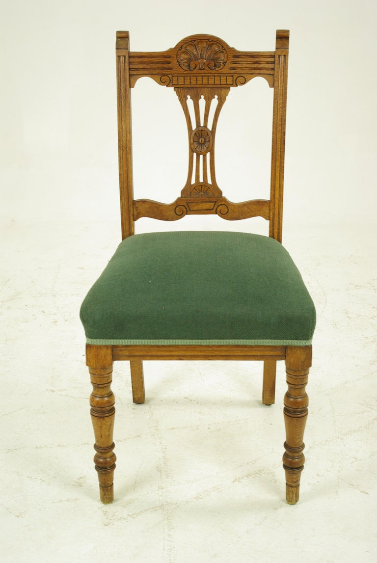 Antique Dining Chairs, Upholstered Chairs, 4 Dining Chairs ...