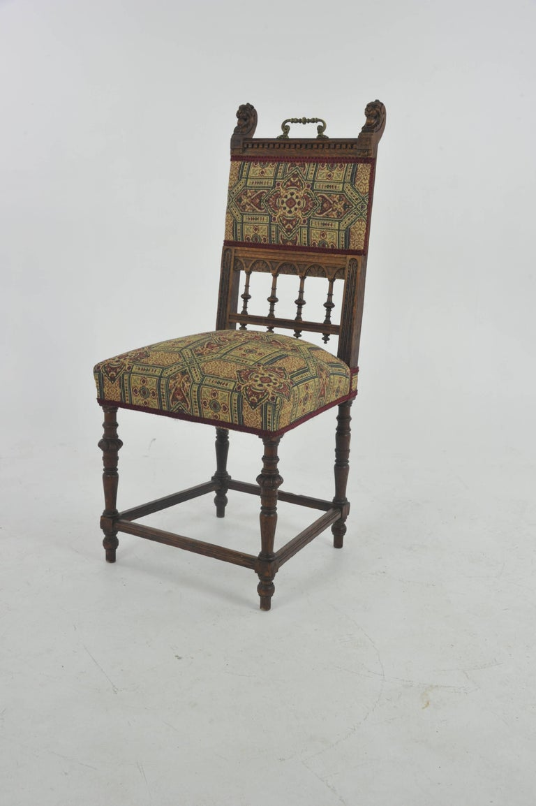 Antique dining chairs, oak dining chairs, vintage chair, France 1890, Antique  Furniture - Antique Dining Chairs, Oak Dining Chairs, Vintage Chair,s France