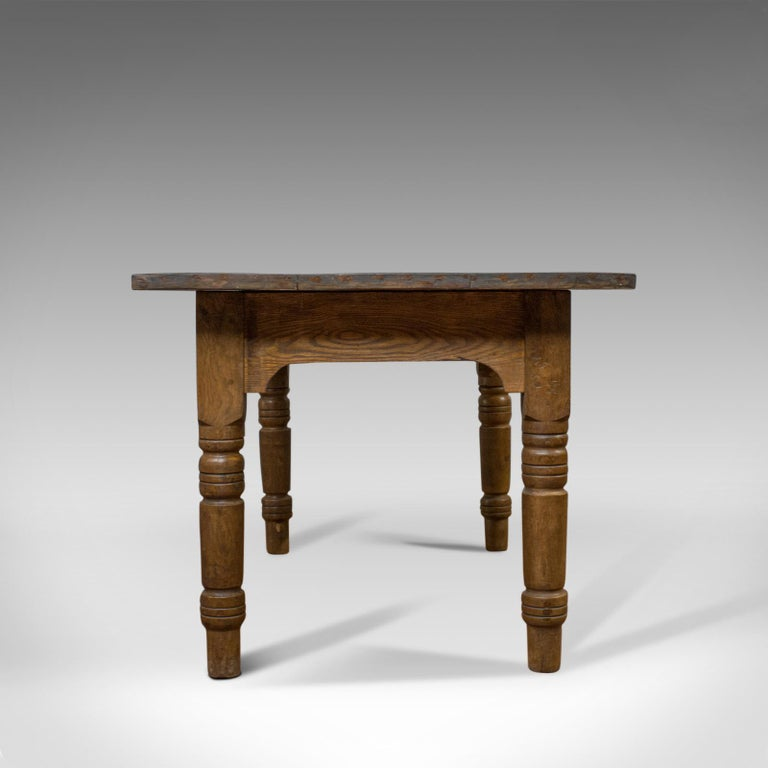 Victorian Antique Dining Table, English, Oak, Country Kitchen, Seats 4-6, circa 1900