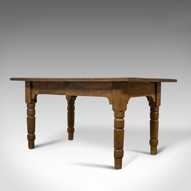 Antique Dining Table, English, Oak, Country Kitchen, Seats 4-6, circa 1900 In Good Condition In Hele, Devon, GB
