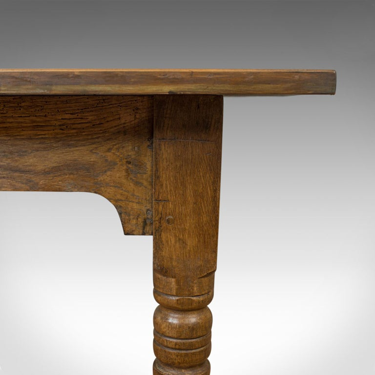 Antique Dining Table, English, Oak, Country Kitchen, Seats 4-6, circa 1900 3