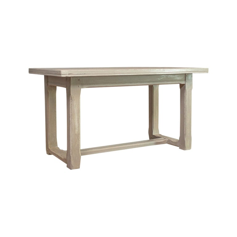 Antique Dining Table, Jacobean Revival, Painted, Oak, Refectory, 4-Seat For Sale