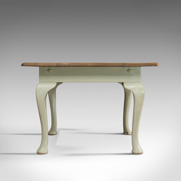 English Antique Dining Table, Square, Pine, Mahogany, Country Kitchen, Seats Four For Sale