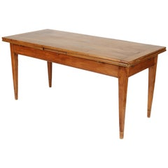 Antique Directoire Style Fruit Wood Dining Room Table