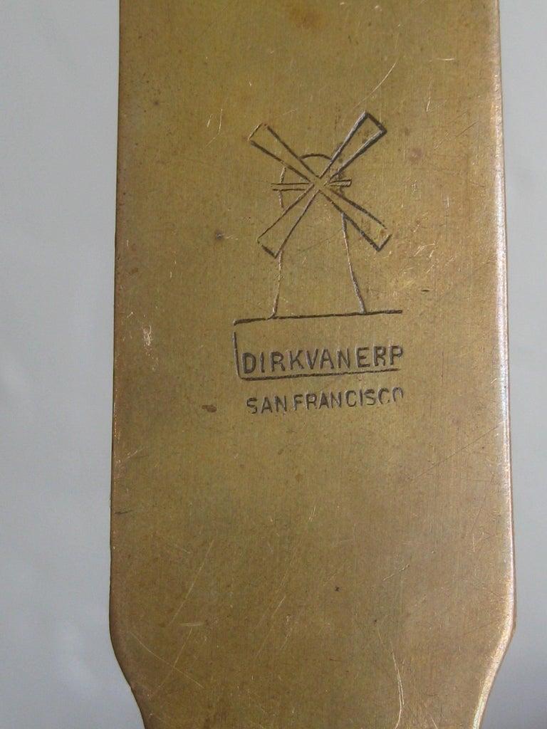 Antique Dirk Van Erp Hand-Hammered Copper Arts & Crafts Letter Opener For Sale 5